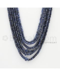 2.50 to 6.50 mm - 6 Lines - Sapphire Faceted Beads - 16 to 19 inches (SFB1052)