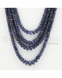 2.50 to 7.00 mm - 6 Lines - Sapphire Faceted Beads - 17 to 21 inches (SFB1056)