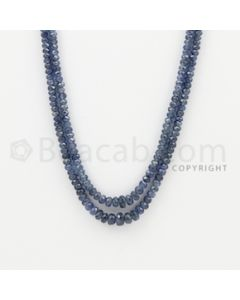 2.50 to 6.00 mm - 2 Lines - Sapphire Faceted Beads - 18 to 19 inches (SFB1064)