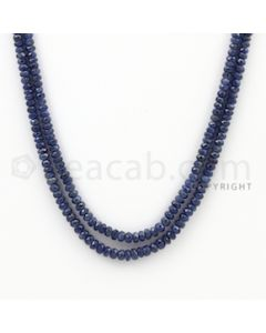 2.50 to 4.50 mm - 2 Lines - Sapphire Faceted Beads - 16 to 17 inches (SFB1065)