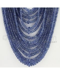 2.50 to 7.00 mm - 13 Lines - Sapphire Faceted Beads - 17 to 24 inches (SFB1067)