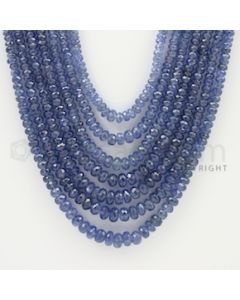 2.50 to 6.00 mm - 7 Lines - Sapphire Faceted Beads - 18 to 22 inches (SFB1068)