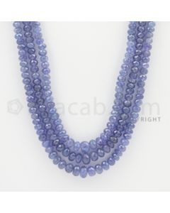 4.70 to 8.00 - 3 Lines - Tanzanite Faceted Beads - 22 to 24 inches (TzFB1007)
