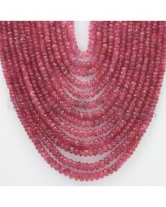3.00 to 6.50 mm - Pink Sapphire Faceted Beads - 1410.80 Carats - 13 Lines (PnSFB1001)