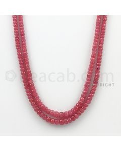 2.50 to 5.50 mm - Pink Sapphire Faceted Beads - 169.10 Carats - 2 Lines (PnSFB1003)