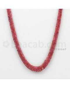 2.50 to 3.50 mm - Pink Sapphire Faceted Beads - 71.05 Carats - 2 Lines (PnSFB1004)