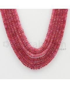 2.30 to 4.50 mm - Pink Sapphire Faceted Beads - 253.75 Carats - 6 Lines (PnSFB1006)
