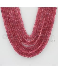 2.20 to 4.00 mm - Pink Sapphire Faceted Beads - 479.00 Carats - 10 Lines (PnSFB1007)