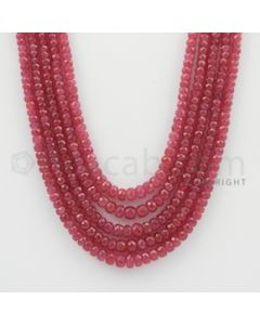 2.50 to 5.00 mm - Pink Sapphire Faceted Beads - 392.15 Carats - 5 Lines (PnSFB1008)
