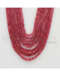 2.20 to 5.00 mm - Pink Sapphire Faceted Beads - 377.25 Carats - 9 Lines (PnSFB1009)
