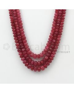 4.00 to 8.20 mm - Pink Sapphire Faceted Beads - 513.00 Carats - 3 Lines (PnSFB1010)