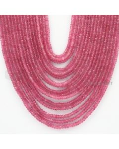 2.00 to 4.00 mm - Pink Sapphire Faceted Beads - 567.75 Carats - 16 Lines (PnSFB1014)