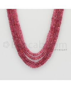 2.30 to 4.50 mm - Pink Sapphire Faceted Beads - 191.00 Carats - 4 Lines (PnSFB1017)