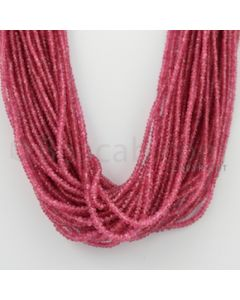 2.40 to 3.50 mm - Pink Sapphire Faceted Beads - 1058.75 Carats - 37 Lines (PnSFB1018)