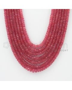 2.40 to 6.00 mm - Pink Sapphire Faceted Beads - 471.95 Carats - 7 Lines (PnSFB1020)