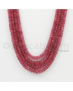 2.50 to 6.00 mm - Pink Sapphire Faceted Beads - 235.50 Carats - 4 Lines (PnSFB1024)