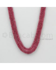2.20 to 4.50 mm - Pink Sapphire Faceted Beads - 112.66 Carats - 3 Lines (PnSFB1029)