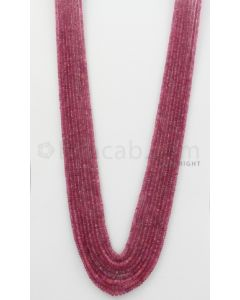 2.20 to 5.00 mm - Pink Sapphire Faceted Beads - 375.30 Carats - 9 Lines (PnSFB1033)