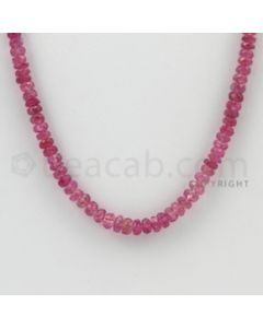2.80 to 4.40 mm - Pink Sapphire Faceted Beads - 76.00 Carats - 1 Line (PnSFB1034)