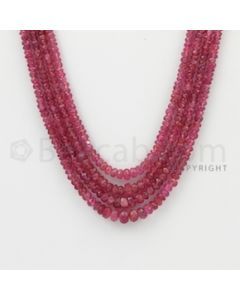 2.20 to 5.00 mm - Pink Sapphire Faceted Beads - 148.75 Carats - 4 Lines (PnSFB1037)