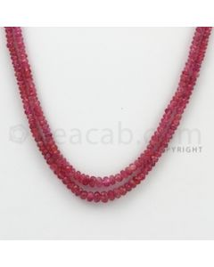 2.30 to 4.60 mm - Pink Sapphire Faceted Beads - 68.25 Carats - 2 Lines (PnSFB1038)