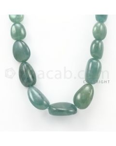 16.00 to 30.00 mm - Aquamarine Tumbled Beads - 668.90 Carats - 1 Line (AqTuB1006)