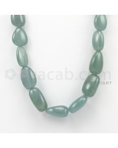 16.00 to 24.00 mm - Aquamarine Tumbled Beads - 622.50 Carats - 1 Line (AqTuB1007)