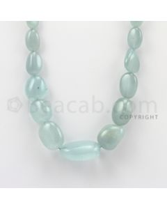 13.00 to 27.00 mm - Aquamarine Tumbled Beads - 380.15 Carats - 1 Line (AqTuB1012)