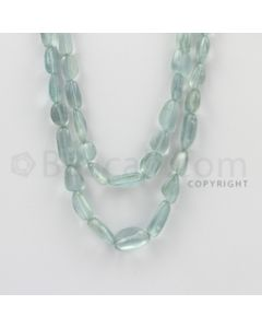 6.00 to 17.00 mm - Aquamarine Tumbled Beads - 240.20 Carats - 2 Lines (AqTuB1024)