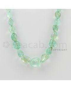 9.00 to 17.00 mm - Emerald Tumbled Beads - 192.00 Carats - 1 Line (EmTuB1014)