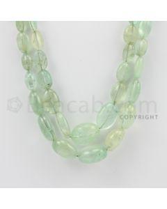 8.00 to 18.00 mm - Emerald Tumbled Beads - 419.00 Carats - 2 Lines (EmTuB1016)