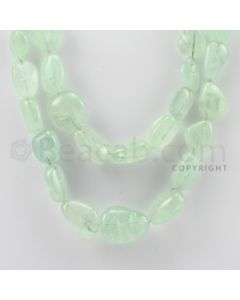 11.00 to 25.00 mm - Emerald Tumbled Beads - 1216.00 Carats - 2 Lines (EmTuB1017)