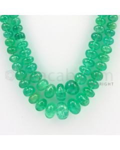 4.00 to 10.50 mm - 2 Lines - Emerald Smooth Beads - 21 to 22 inches (EmSB1007)