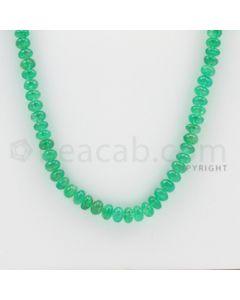 4.25 to 6.00 mm - 1 Line - Emerald Smooth Beads - 26 inches (EmSB1013)