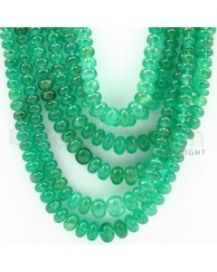 3.00 to 7.50 mm - 6 Lines - Emerald Smooth Beads - 20 to 24 inches (EmSB1014)