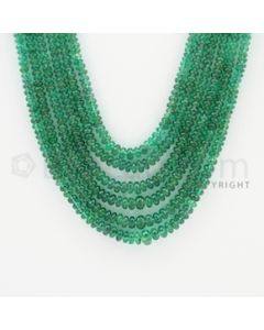 2.20 to 4.80 mm - 6 Lines - Emerald Smooth Beads - 18 to 21 inches (EmSB1015)