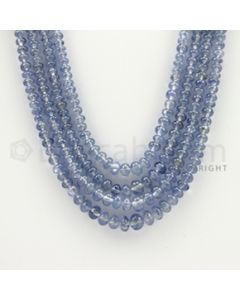 2.50 to 6.00 mm - 4 Lines - Sapphire Smooth Beads - 18 to 20 inches (SSB1003)
