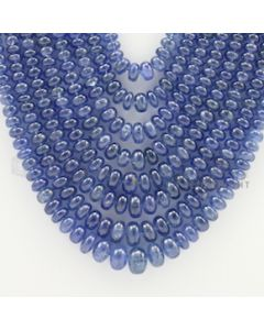 3.00 to 9.00 mm - 8 Lines - Sapphire Smooth Beads - 19 to 24 inches (SSB1004)