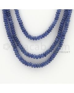 2.50 to 4.50 mm - 3 Lines - Sapphire Smooth Beads - 19 to 22 inches (SSB1005)