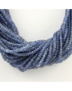 2.10 to 4.50 mm - 28 Lines - Sapphire Smooth Beads - 16.50 inches (SSB1009)
