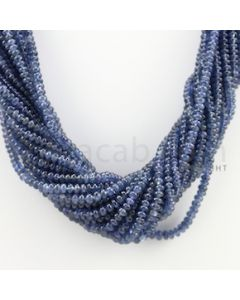 2.50 to 4.00 mm - 20 Lines - Sapphire Smooth Beads - 16.50 inches (SSB1010)