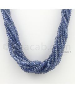2.50 to 5.25 mm - 8 Lines - Sapphire Smooth Beads - 17 inches (SSB1013)