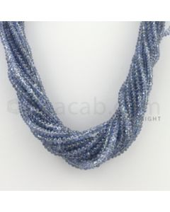 2.20 to 4.00 mm - 13 Lines - Sapphire Smooth Beads - 17 inches (SSB1015)