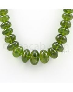 8.00 to 17.00 mm - 1 Line - Peridot Smooth Beads - 17 inches (PSB1001)