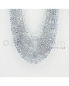 2.50 to 11.00 mm - 5 Lines - Sapphire Faceted Roundel Beads - 16 to 20 inches (SFRoB1018)