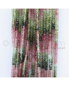 2.80 to 3.20 mm - 18 Lines - Tourmaline Faceted Beads - 15 inches (MuToFB1002)