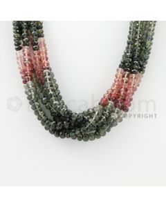 3.00 to 4.80 mm - 6 Lines - Tourmaline Faceted Beads - 17 inches (MuToFB1008)