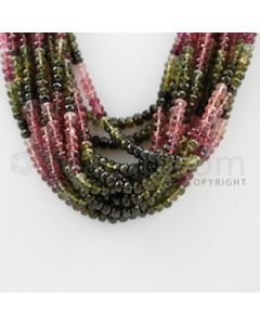 3.50 to 5.00 mm - 13 Lines - Tourmaline Faceted Beads - 17 inches (MuToFB1010)