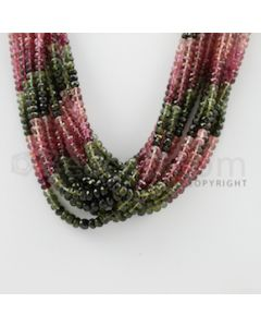 3.50 to 4.50 mm - 12 Lines - Tourmaline Faceted Beads - 17 inches (MuToFB1011)