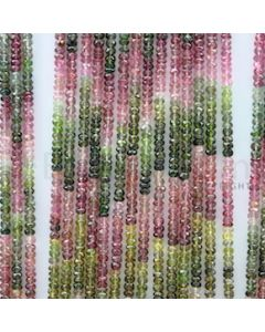 3.80 mm - 29 Lines - Tourmaline Faceted Beads - 16 inches (MuToFB1012)